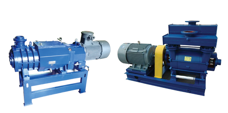 Screw vacuum pump and liquid ring vacuum pump comparison between
