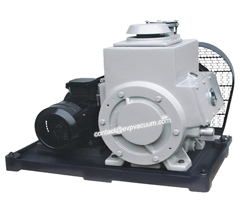 Vacuum pump to remove hydrocarbons and organosilicon