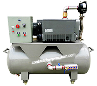 Vacuum system for central gas supply in hospitals