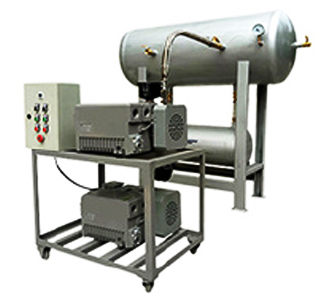Vacuum system in cattle raising machinery