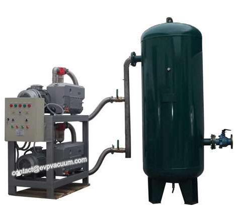 Vacuum system in seawater degassing
