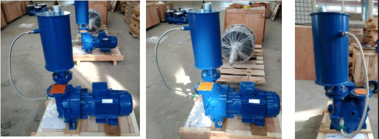 liquid ring vacuum pump with separator used in modern refinery plant