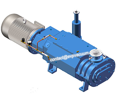 Compact dry screw vacuum pump