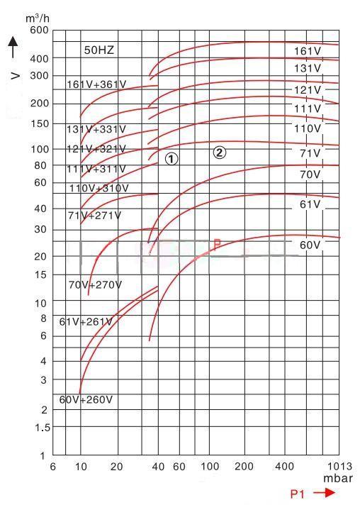 Liquid ring vacuum pumpmodel description