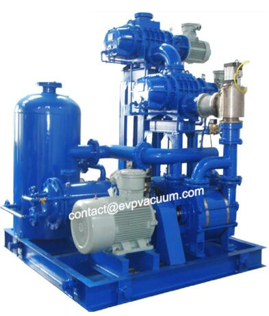 Roots vacuum pump unit