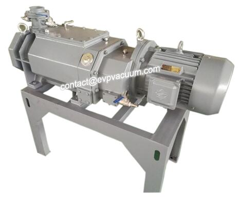 Vacuum pump for solvent recovery and milk deep processing