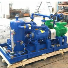 Water ring vacuum pump used in offshore on a rig applications