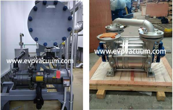 DLV Double Stage Liquid Ring Vacuum Pump Used in Food Industry