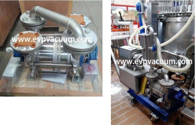 Liquid ring vacuum pump used in milking machine1