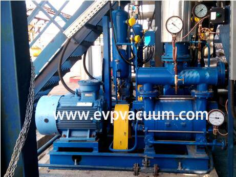 Water ring vacuum pump in vacuum negative pressure system