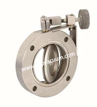 High-vacuum butterfly valve