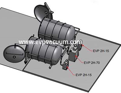 Piston Vacuum pump used in freezer dryer