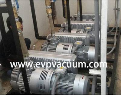 rotary vane vacuum pump used In Vacuum negative pressure station in Asia