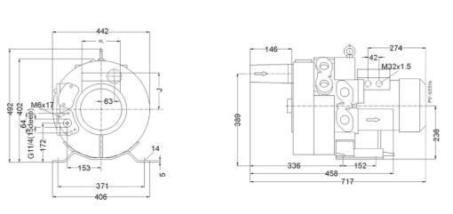 Installation dimensions