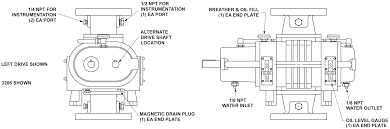 Disassembly drawing of Roots blower
