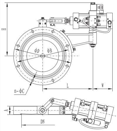 GIQ series pneumatic high vacuum butterfly valve