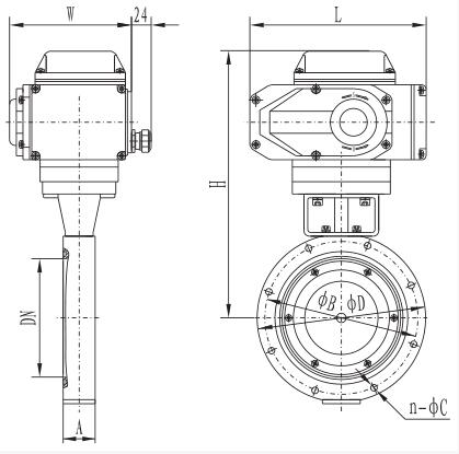 Gid-a series electric high vacuum butterfly valve