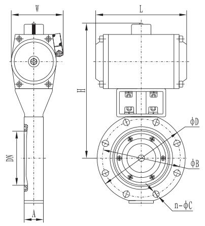 Giq-ab series pneumatic high vacuum butterfly valve