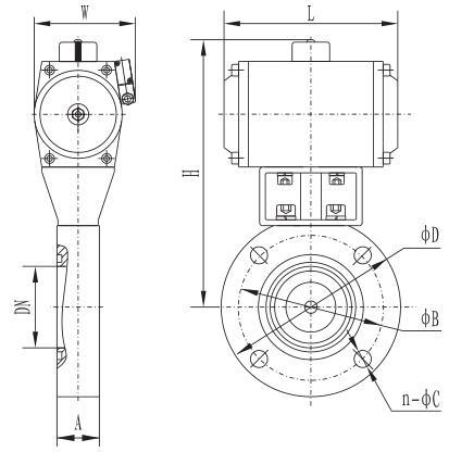 Giq-b series pneumatic high vacuum butterfly valve