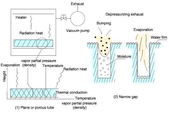 Principle of vacuum drying