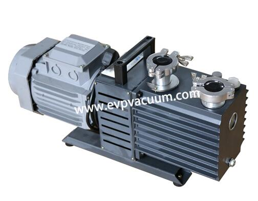 Rotary vane vacuum pump for integrated automation