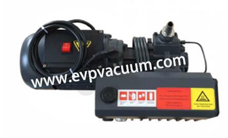 Rotary vane vacuum pump in degasser