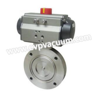 Pneumatic high-vacuum butterfly valve