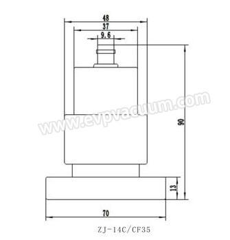 ZJ-14 cold cathodic gauge pipe size