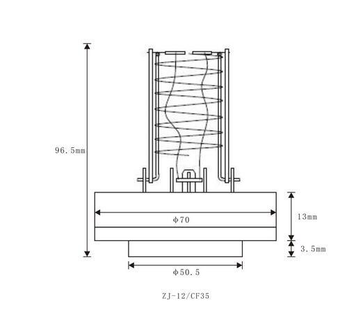 ZJ-12 vacuum gauge size