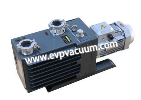 Direct-coupled rotary vane vacuum pump in lithium bromide refrigerator