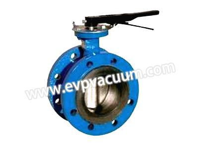 Manual flange type soft sealing butterfly valve