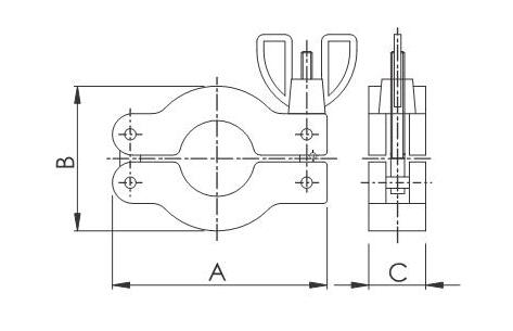 KF clamp assembly size