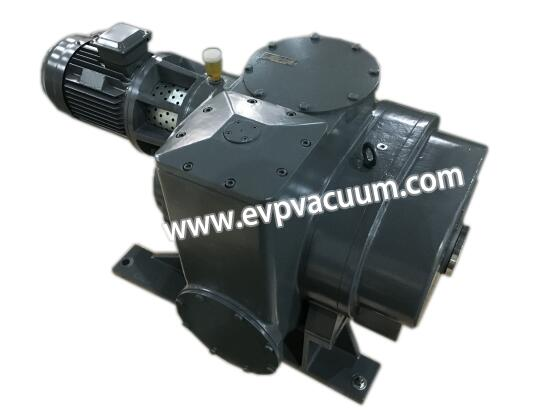 Roots vacuum pump for dry gas concentration device