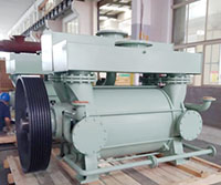 Vacuum pump in Steel degassing