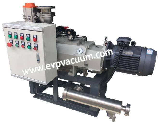 Screw vacuum pump used in forming vacuum of refrigerator liner