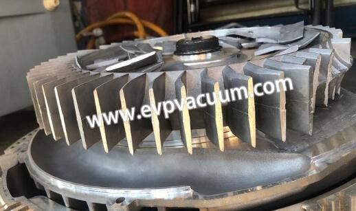 picture shows the damaged blower impeller