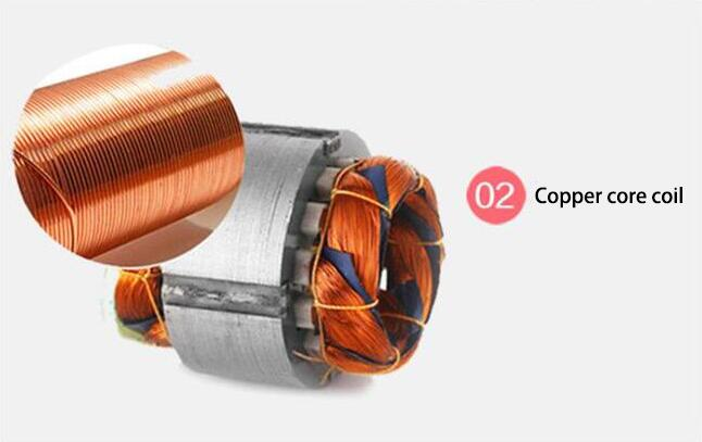 Air blower for copper core coil