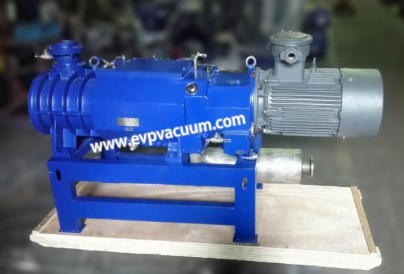 Counter current cooling screw vacuum pump