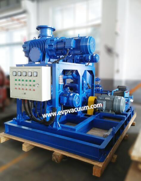 Vacuum system in electric vacuum device