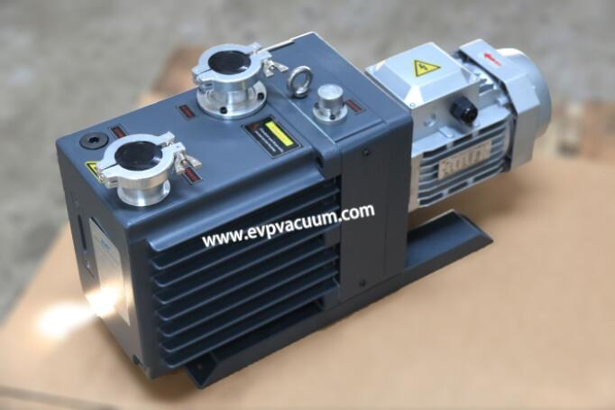 Rotary vane vacuum pump in production of barium salt
