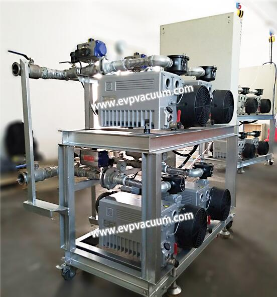 Vacuum unit for PVC transparent sheet extrusion