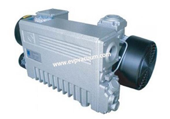 Rotary vane vacuum pump in sealed container