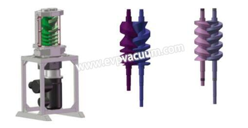 Vertical screw pump for operation