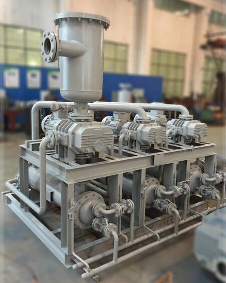 vacuum system of metal parts in degassing method