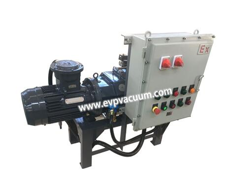 Screw vacuum pump in iPad color back shell manufacturing