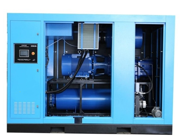 Oil-free screw blowers are used in the production of masks