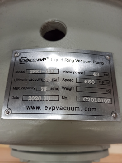 Liquid ring vacuum pump for coal seam gas recovery