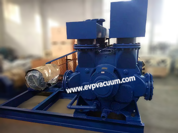 Vacuum pump is used to vacuum the press area of the paper machine