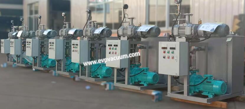 Vacuum unit for polyol process