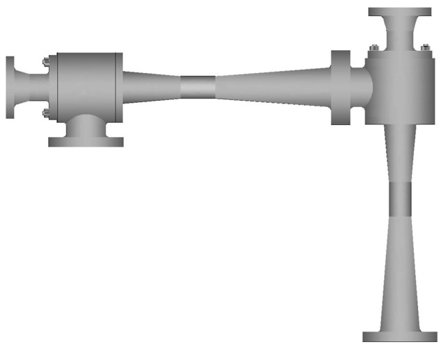 Two-stage steam ejector series